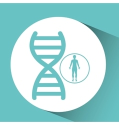 Silhouette person medical genetic icon design vector