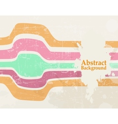 abstract wave color retro grunge background vector image