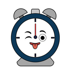 alarm clock kawaii character vector image