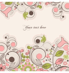 beautiful summer floral frame vector image
