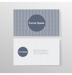Business card template with ropes and knots vector image vector image