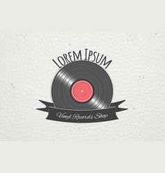 color sticker music shop and studio recording vector image