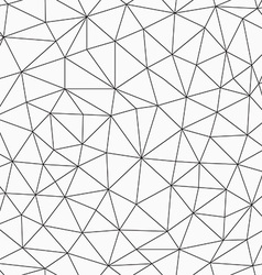 monochrome contour triangles seamless pattern vector image
