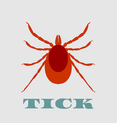 silhouette of tick parasite sketch of mite vector image