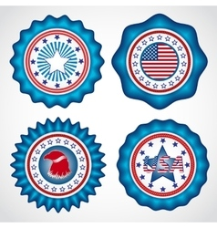 American Independence Day Holiday badges vector image vector image