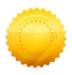 Blank guarantee certificate vector image