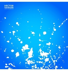 Blue background with splashes of white paint vector image vector image