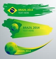 brazil banner vector image