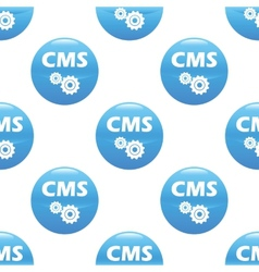 CMS sign pattern vector image vector image