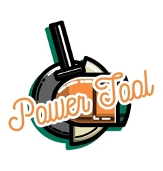 Color vintage power tools store vector image vector image