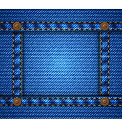 Jeans frame with buttons vector image