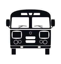 Retro Bus Icon vector image