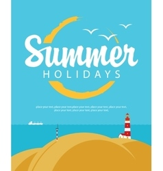 summer holidays with sea vector image vector image