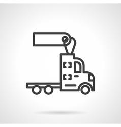 Trucks for rent black line design icon vector image