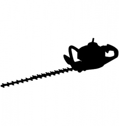 hedge trimmers vector image