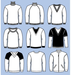 Man casual sweaters vector