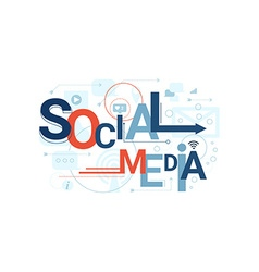 Social Media Word Typography vector image