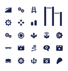 22 motion icons vector