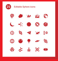 25 sphere icons vector