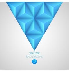 3d triangular background vector image