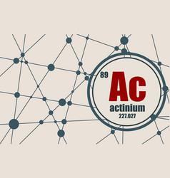 actinium chemical element vector image