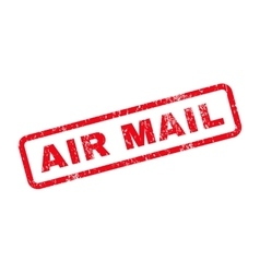 Air Mail Text Rubber Stamp vector