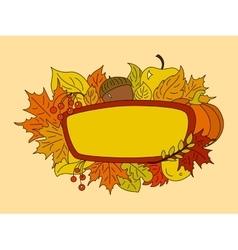 Autumn symbols design element vector image