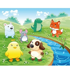 Baby Pets Background vector