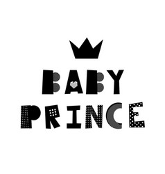 baby prince lettering vector image