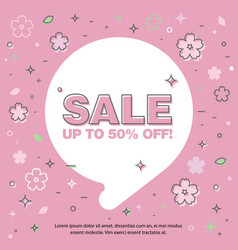banner sale of 90 off last spring sale vector image