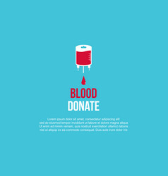 Blood donate background style collection vector