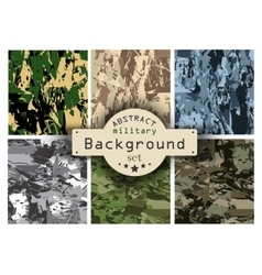 Camouflage military background set vector