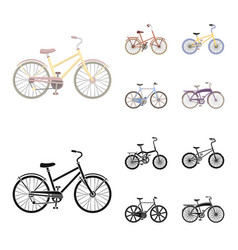children bicycle and other kindsdifferent vector image