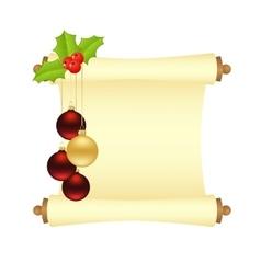 Christmas manuscript isolated vector