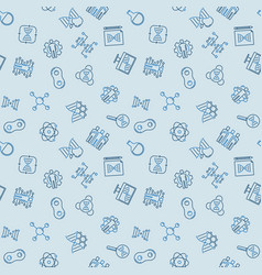 cloning blue seamless pattern in outline vector image