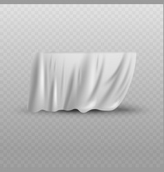 Covering drape white curtain or cloth realistic vector