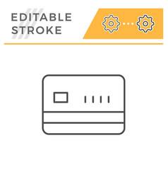 credit card editable stroke line icon vector image