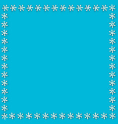 cute square snowflakes frame for chrismas or new vector image