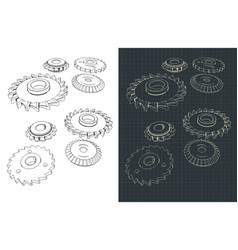 cutting and milling circles vector image