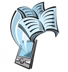 Digital book vector