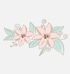 Drawing floral bouquet vector image
