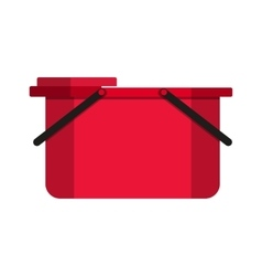Empty bucket icon vector image