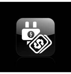 Energy cost icon vector