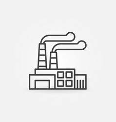 factory outline icon vector image