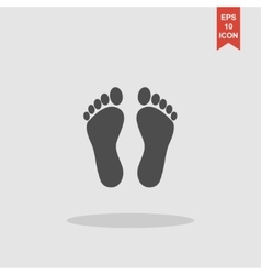footprint - icon vector image