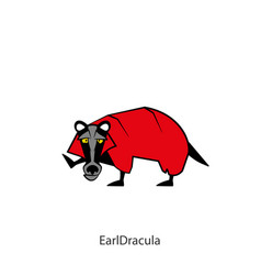 Funny wild badger color 2 vector