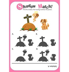 Game template for shadow matching dogs vector