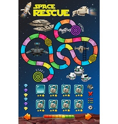 Game template with rockets in the space vector