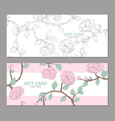 Gift card in pink shades vector