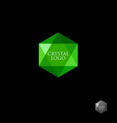 Green crystal logo vector